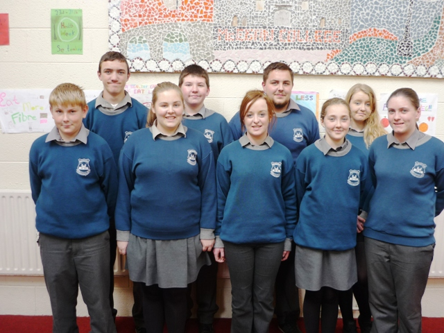 Back Row:  Alan O Sullivan,  Josh Mullen, Cian O Leary, Aileen Cronin Front Row: Raymond Crowley, Eleanor Lane, Denise Kelleher and Marie Murphy